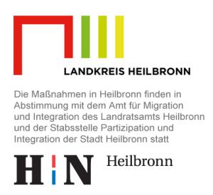 Die Maßnahmen in Heilbronn finden in Abstimmung mit dem Amt für Integration und Migration des Landratsamts Heilbronn und der Stabstelle Partizipation und Integration der Stadt Heilbronn statt
