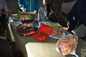 Jeder hat etwas mitgebracht für das gemeinsame Picknick