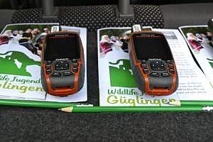 Die technische Ausrüstung: GPS Geräte und eine Schatzkarte