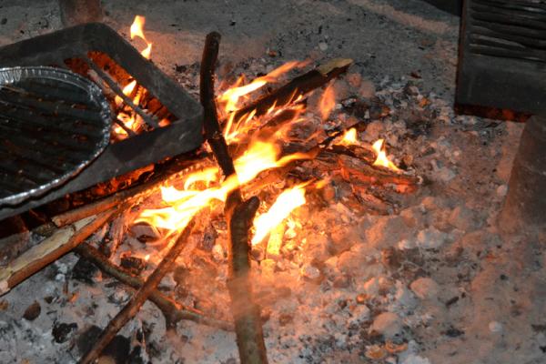 Am Abend versammelten sich dann alle am Lagerfeuer und lauschten der Musik