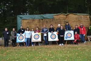 Eine bunt gemischte Gruppe nahm am Training von Frau Altmann beim TSV Ochsenburg teil