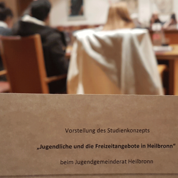 Vorstellung der Studie im Jugendgemeinderat Heilbronn