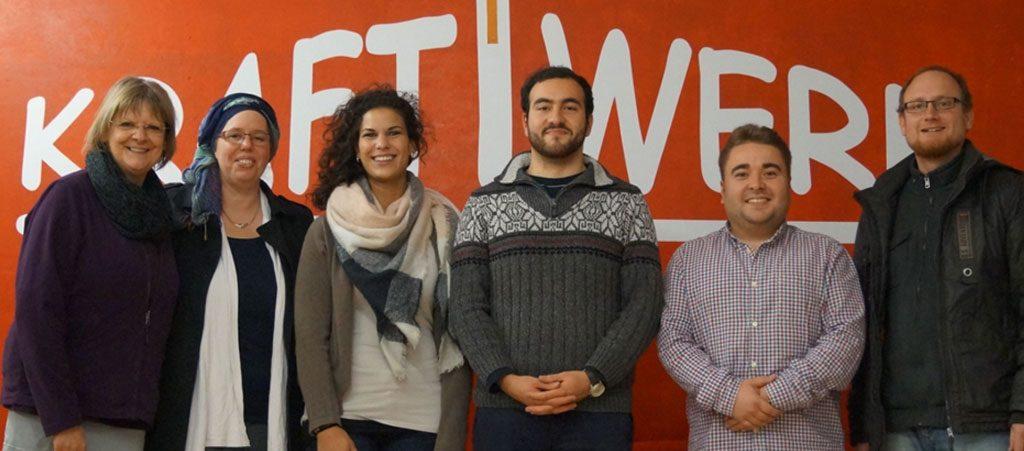 Die Jugendvertreter der Wildlife Jugend Güglingen und der RAA Berlin trafen sich mit Vertretern der Stadtjugendarbeit, der Evangelischen Jugend und des Kraftwerkvereins.