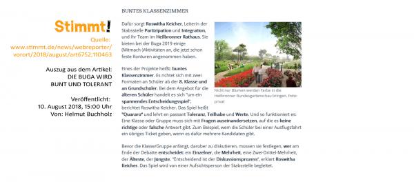 Artikel von stimmt.de vom 10. August 2018 u.a. zu Quararo