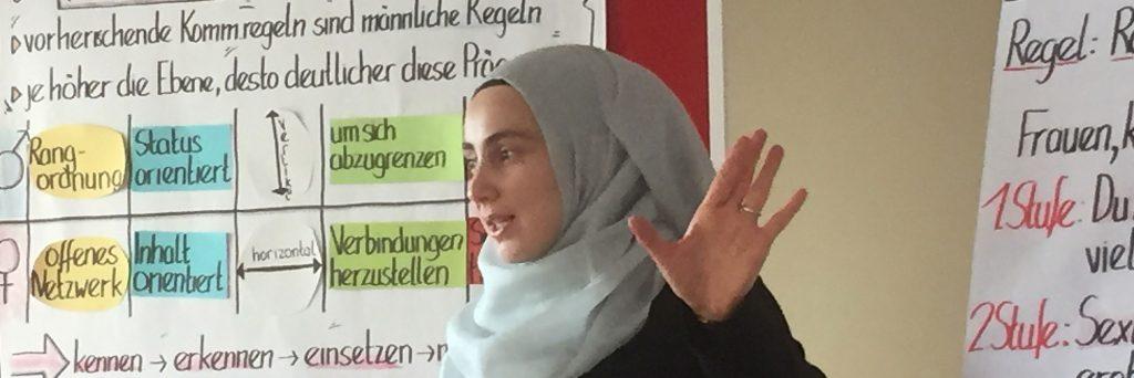 Kommunikationsworkshop für muslimische Frauen und Mädchen als Empowermentansatz in der Präventionsarbeit